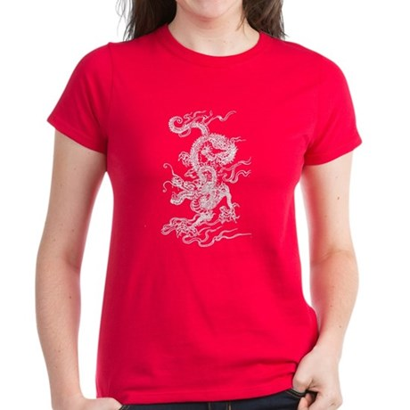 White Dragon Master Women's Dark T-Shirt
