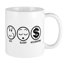 Eat Sleep Accounting Small Mugs