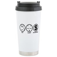 Eat Sleep Accounting Travel Mug