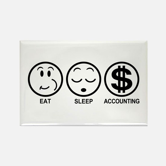 Eat Sleep Accounting Rectangle Magnet