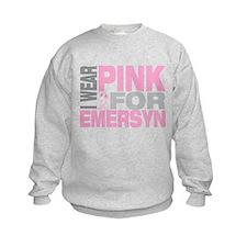 I wear pink for Emersyn Sweatshirt