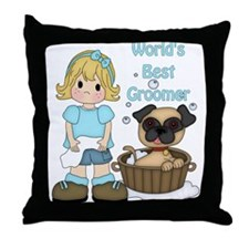World's Best Groomer Throw Pillow