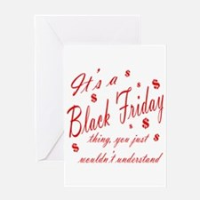 Black Friday Greeting Card