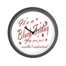 Black Friday Wall Clock