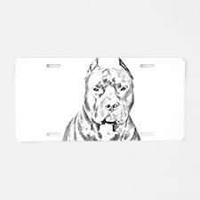 Pit Bull Head Aluminum License Plate