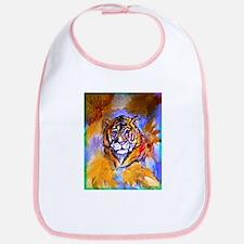 Tiger, wildlife art, Bib