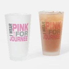 I wear pink for Journee Drinking Glass