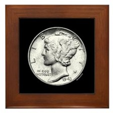 Mercury Dime Framed Tile