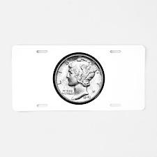 Mercury Dime Aluminum License Plate