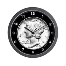 Mercury Dime Wall Clock