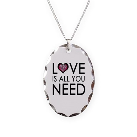 'Missing Poster' Necklace Oval Charm