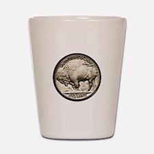 Buffalo Nickel Shot Glass