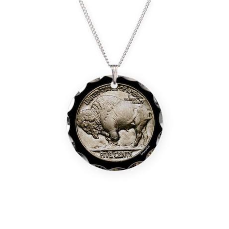 Buffalo Nickel Necklace Circle Charm