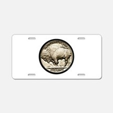 Buffalo Nickel Aluminum License Plate