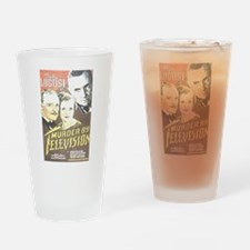 Murder By Television Drinking Glass