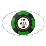 DEAL ME IN Sticker (Oval 50 pk)