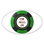 DEAL ME IN Sticker (Oval)