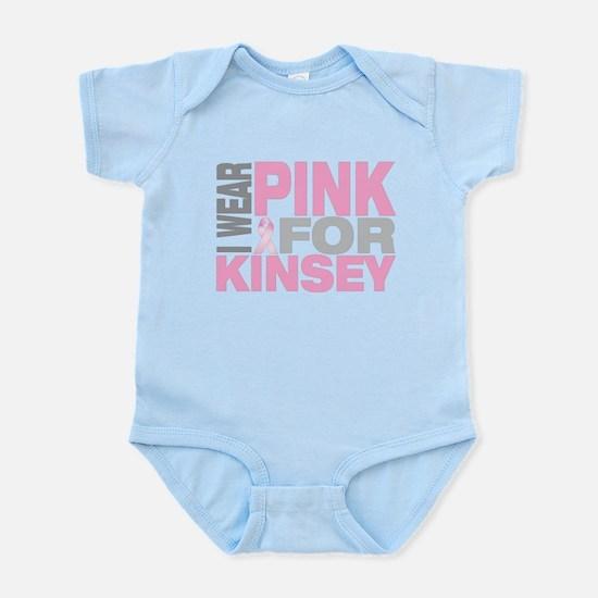 I wear pink for Kinsey Infant Bodysuit