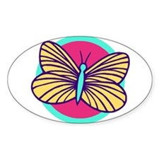 Butterfly208 Oval Decal