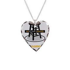 Logo w/ website - yellow text Necklace