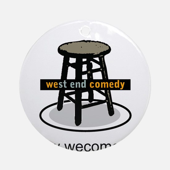 West End Comedy Ornament (Round)