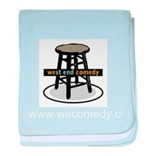 West End Comedy logo w/o webs baby blanket