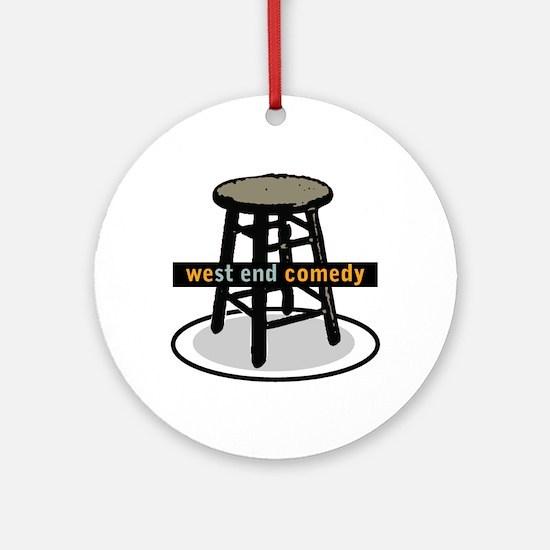 West End Comedy logo w/o webs Ornament (Round)