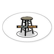 West End Comedy logo w/o webs Decal