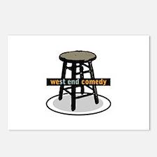 West End Comedy logo w/o webs Postcards (Package o