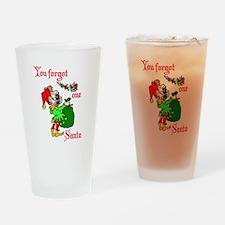 Santas Elf calling Drinking Glass