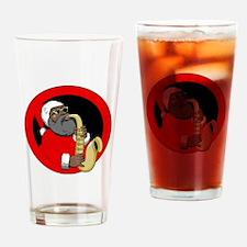 Saxophone Santa Drinking Glass