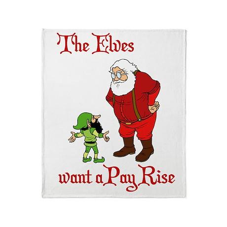 Funny Christmas Elf Throw Blanket