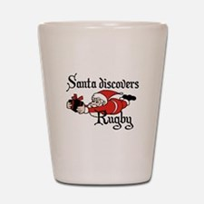 Santa Rugby Christmas Shot Glass