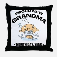 Proud New Grandma Personalized Throw Pillow