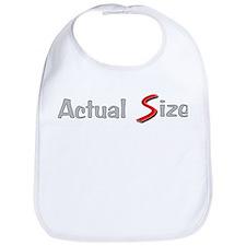 Actual Size Bib