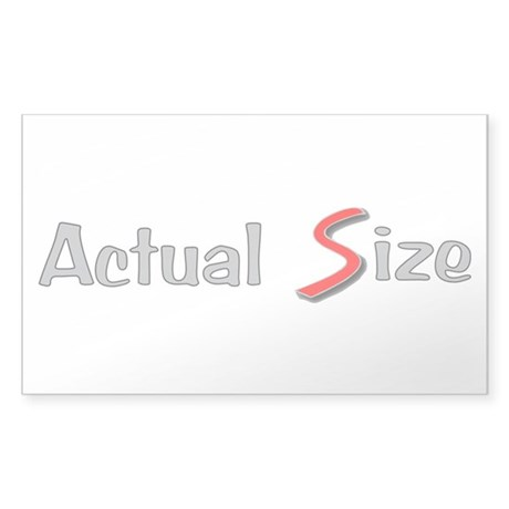 Actual Size Sticker (Rectangle)