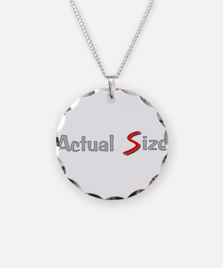 Actual Size Necklace Circle Charm