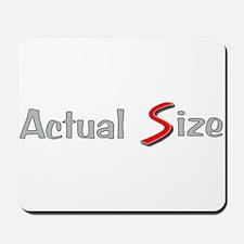 Actual Size Mousepad