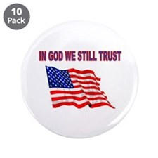 """GOD BLESS AMERICA 3.5"""" Button (10 pack)"""