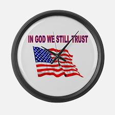 GOD BLESS AMERICA Large Wall Clock