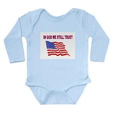 GOD BLESS AMERICA Long Sleeve Infant Bodysuit