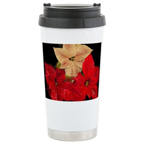 Stainless Steel Travel Mug - Poinsettia