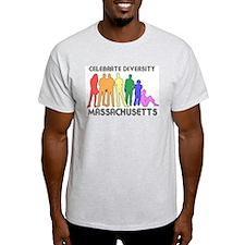 Massachusetts diversity Ash Grey T-Shirt