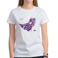 Boston Tee Purple on White