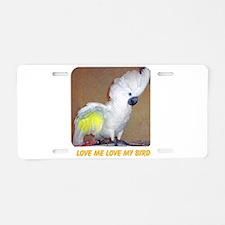 Cockatoo Aluminum License Plate