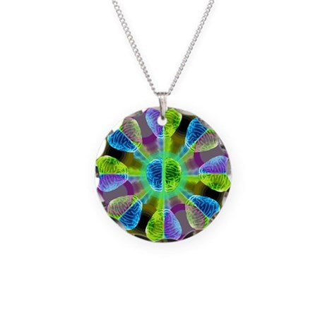 Brainy Kaleidoscope Necklace Circle Charm