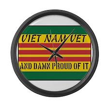 Proud to be Viet Nam Vet Large Wall Clock