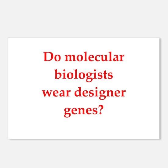 funny biology joke Postcards (Package of 8)