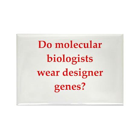 funny biology joke Rectangle Magnet