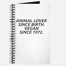 Vegan since 1972 Journal
